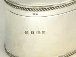 SOLID SILVER BOX / BISCUIT BOX / CANDY / SWEETIE TIN / TEA CADDY BIRMINGHAM 1997