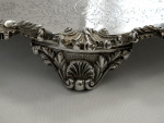 ANTIQUE VICTORIAN SOLID SILVER SALVER / TRAY / PLATTER LONDON 1872