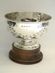 ANTIQUE SOLID SILVER TROPHY / ROSE BOWL WITH PLINTH BIRM. 1912