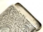 ANTIQUE VICTORIAN SOLID SILVER CHEROOT/ CIGAR / CIGARETTE CASE LONDON 1840