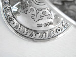 PAIR ANTIQUE SOLID SILVER DISHES LONDON 1908