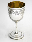 ANTIQUE VICTORIAN SOLID SILVER WINE GOBLET EXETER 1872