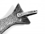 RARE ANTIQUE SILVER FISH POCKET / PEN FOLDING LOCK KNIFE LONDON 1906