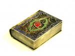 ANTIQUE CONTINENTAL SILVER & ENAMEL FILAGREE BOOK BOX