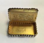 RARE VICTORIAN SILVER/ GILT & ENAMEL VESTA BOX / CASE BIRMINGHAM 1886