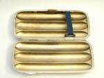 ANTIQUE SOLID SILVER CIGAR CASE / CIGAR HOLDER CHESTER 1901