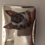 "CONTINENTAL SILVER & ENAMEL "" DOG "" SNUFF BOX MADE IN GERMANY c 1920 MAKER OTTO BORTENRUTER DRESDEN"
