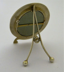 BEAUTIFUL OVAL RED& SILVER ENAMEL PICTURE FRAME MAKER MARIUS HAMMER