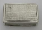 A GEO III SILVER SNUFF BOX LONDON 1809