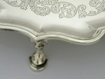 A LARGE 14in SOLID SILVER SALVER / TRAY LONDON 1905 BY C.S.HARRIS & SONS