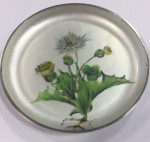 A PAIR OF CONTINENTAL SILVER ENAMEL DISHES DANISH Circa 1930