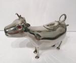 A CONTINENTAL SILVER DUTCH COW CREAMER CIRCA 1920