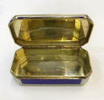 A BEAUTIFUL CONTINENTAL SILVER & ENAMEL BOX  Circa 1900