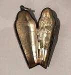 A RARE VICTORIAN VESTA CASE OF A EGYPTIAN SARCOPHAGUS