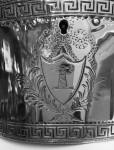 A GEO III ANTIQUE SILVER TEA CADDY LONDON 1774