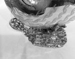A UNUSUAL SILVER-PLATE SPOON WARMER CIRCA 1900