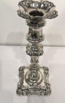 A LOVELY SET OF 4 WILLIAM IV SILVER CANDLESTICKS SHEFFIELD 1836