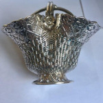 A Set OF 4 RARE DISHES OR SALTS WITH BASKET WEAVE DESIGN 1869