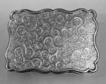 A LARGE VICTORIAN SILVER TABLE SNUFF BOX 1866