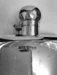 A LARGE SILVER FLASK - SHEFFIELD - 1915