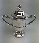 A LARGE VICTORIAN SILVER CUP & COVER 1895