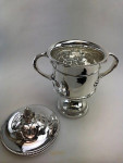 A LARGE SOLID SILVER CUP & COVER 1913