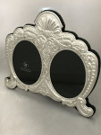 Silver Double Ornate Photo Frame
