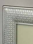 Solid Silver 7 x 5 inch Photo Frame with a Cross Stitch Design