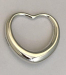 Solid Silver Heart Shape Baby Rattle