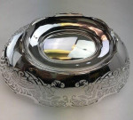 A SOLID SILVER OVAL DISH 1935