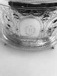 A VICTORIAN SILVER PLATED BISCUIT BOX Circa 1860