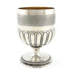 A LARGE GEO III SILVER GOBLET 1810