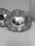 A PAIR OF SOLID SILVER DISHES 1962