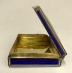 A CONTINENTAL SILVER & ENAMEL BOX Circa 1910 (NORWEGIAN)