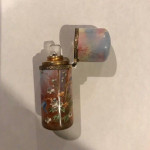 A CONTINENTAL SILVER & ENAMEL PERFUME BOTTLE Circa 1900