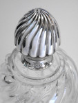 PAIR VICTORIAN SILVER & GLASS DECANTERS BIRMINGHAM 1890
