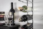Stainless Steel 9 Bottle Wine Rack