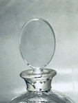 Silver & Glass Round Disc Decanter
