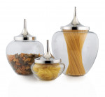 24cm Nickel Plated Aluminium Storage Jar