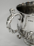ANTIQUE LARGE SOLID SILVER TROPHY CUP BOWL PRIZE LONDON 1904 CHARLES I STYLE