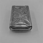 AN UNUSUAL VICTORIAN SILVER VESTA/ MATCH BOX 1888