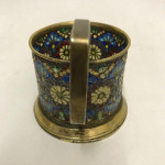RARE PAIR OF RUSSIAN PIQUE A JOUR TEA HOLDERS Circa 1898