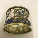 UNUSUAL RUSSIAN ENAMEL NAPKIN RING circa 1890