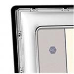 Sterling Silver Frame Ribbon & Reed 5 x 3.5 (Velvet Back)