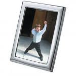 Solid Silver Photo / Photograph Frame (10 x 8) Plain - Velvet Back