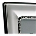Silver Frame Egg & Bead 10 x 8 (Velvet Back)