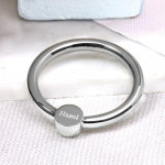 Silver Baby Rattle & Teether