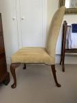 19th century mahogany cabriole legged side chair