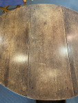 Geo 1st Oak Gateleg table, needs restoration