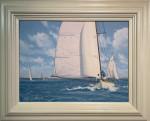 Yachts Racing at Cowes